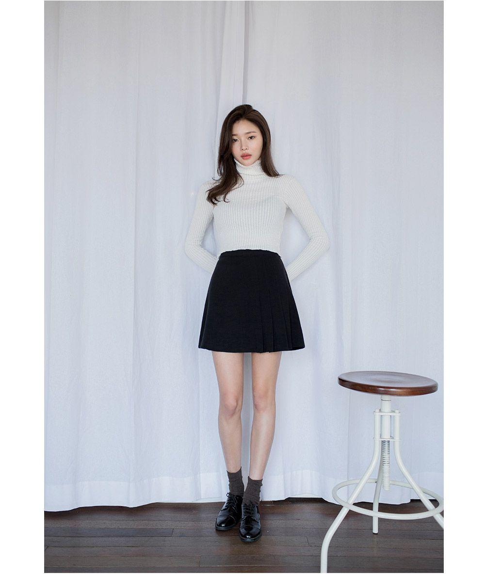Side Pleated A-Line Skirt - I know you wanna kiss me. Thank you for visiting CHUU.