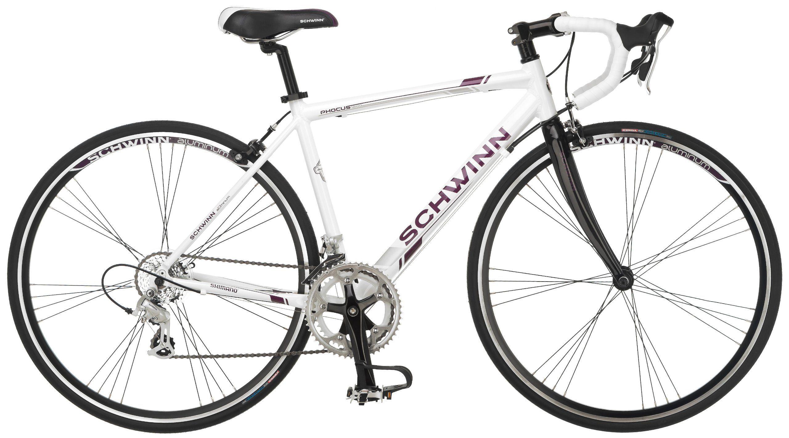 Schwinn Women\'s Phocus 1600 700C Drop Bar Road Bicycle, White, 16 ...