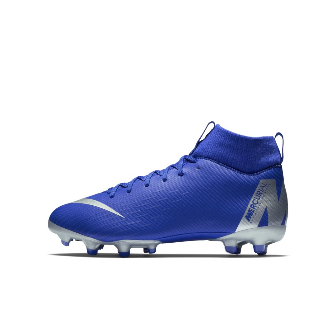2186987bdefc Nike Jr. Superfly VI Academy Little/Big Kids' Multi-Ground Soccer Cleat  Size 3.5Y (Racer Blue)