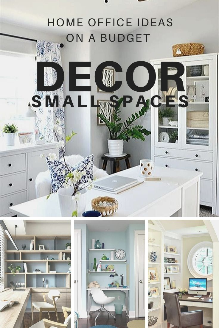 Beautiful First Home Decorating Ideas On A Budget: Home Office Ideas On A Budget Decor Small Spaces In 2020