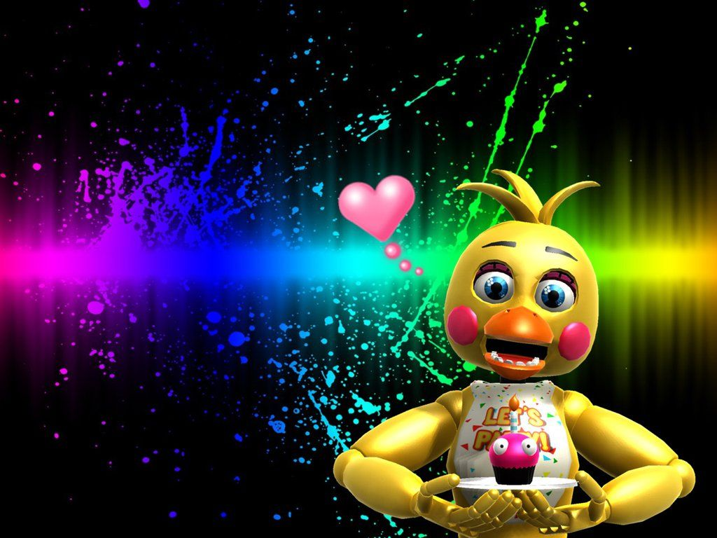 [ FNAF 2 ] Toy Chica wallpaper by MaryDiana123.deviantart
