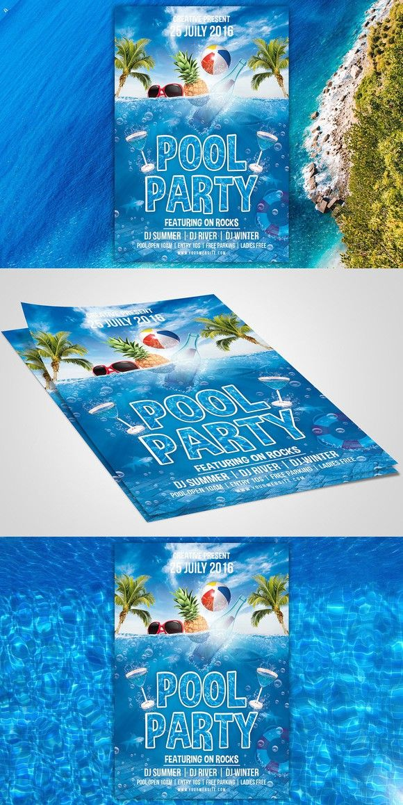 Pool Party Flyer Flyer Templates Pinterest Party flyer - pool party flyer template