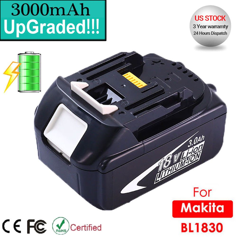 3.0Ah For Makita 18Volt Lithium Ion Battery BL1830 LXT400 BL1860 194205-3 BL1815