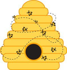 Awesome Honey Bees Nest Clipart
