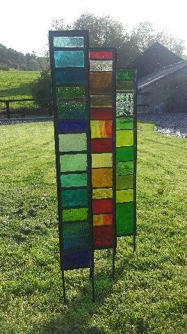 Superieur Blacksculpt Stained Glass Garden Panels