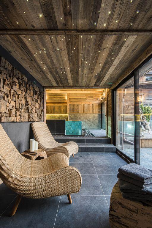 Le Grand-Bornand, Chalet de vacances avec 5 chambres pour 14 - location chalet avec piscine interieure