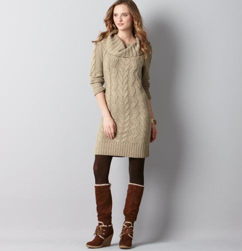 Petite Chunky Cable Sweater Dress Sweater Dress Cable Sweater Dress Sweater Dress Boots