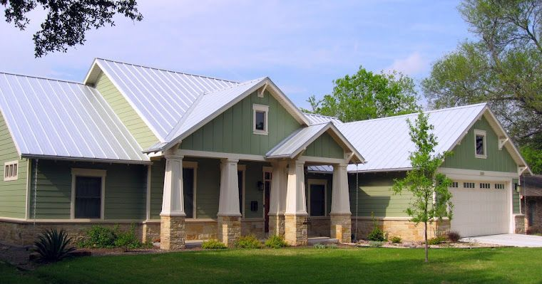 Siding with rock skirt/galvalume roof | Home Exteriors