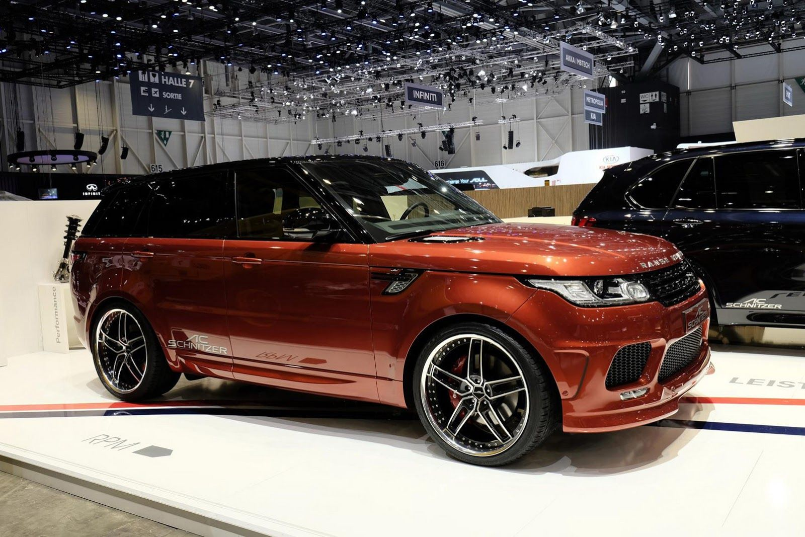 Ac Schnitzer Gives The Range Rover Sport Diesel More Power And The Looks To Show It Carscoops Range Rover Range Rover Sport Red Range Rover