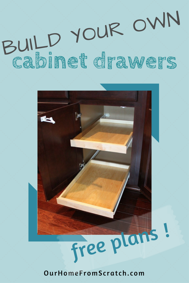 how to build pull out cabinet drawers for your kitchen or bathroom ...