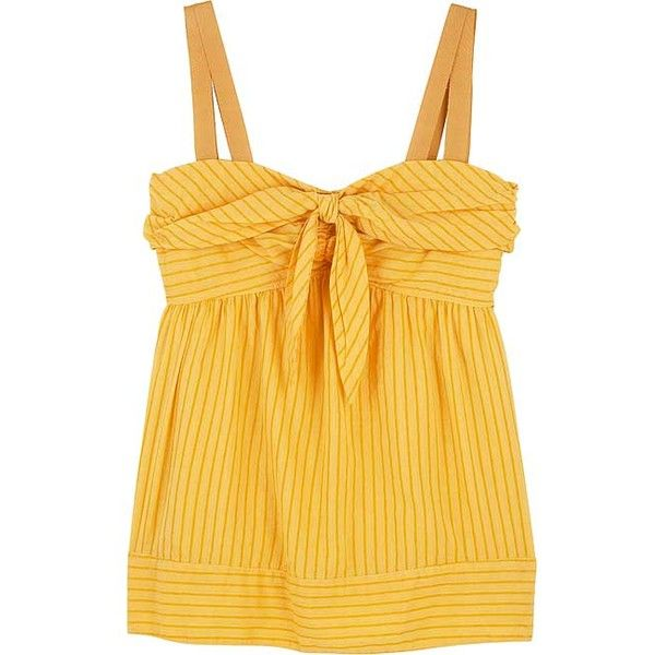 79cf2846 Marc by Marc Jacobs Bow-front camisole top ($190) ❤ liked on Polyvore  featuring tops, shirts, tanks, yellow, bow front shirt, cami shirt, yellow  cami, ...