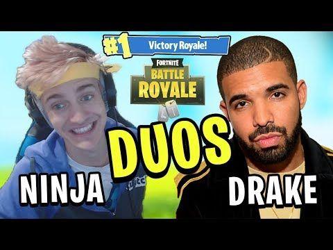 drake and ninja play duos in fortnite battle royale full match youtube - drake plays fortnite with ninja