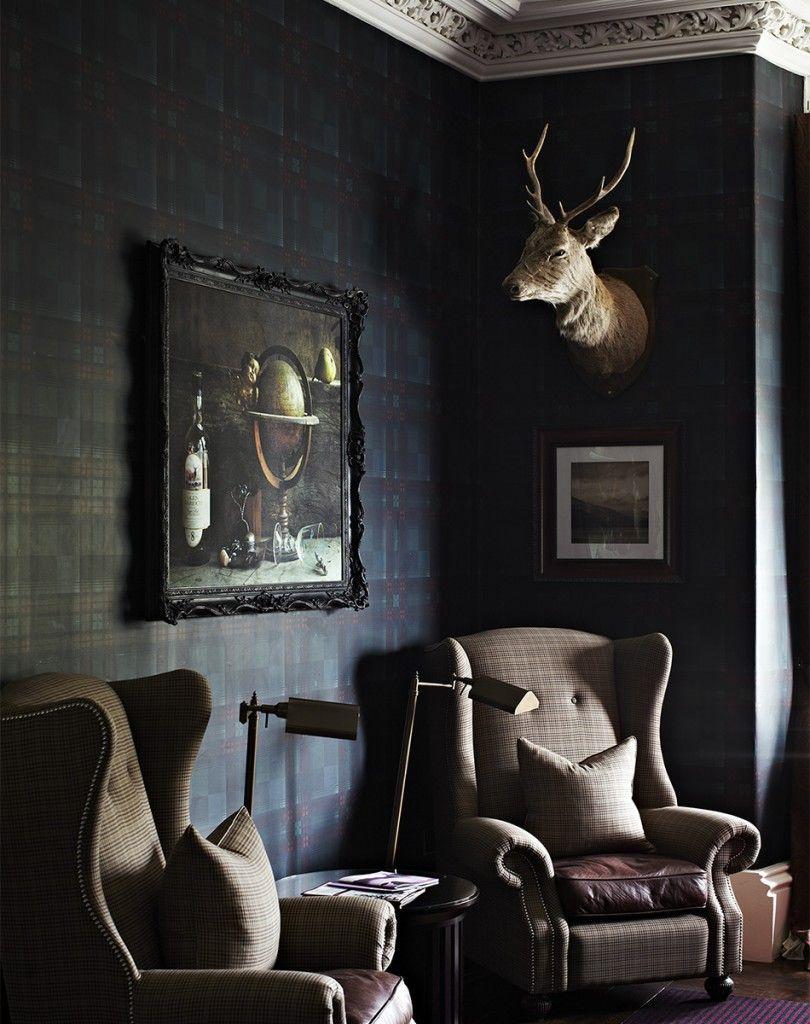 Best Dark Antique Modern Mix Sharyn Cairns Dark Living 400 x 300