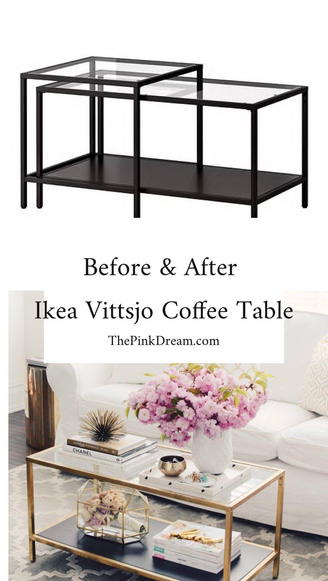 Ikea Vittsjo Coffee Table Hack Step By Step Ikea Vittsjo Table Hack Ikea Tische Wohnzimmer Ikea Hack Wohnzimmer Ikea Couchtisch [ 1984 x 1120 Pixel ]
