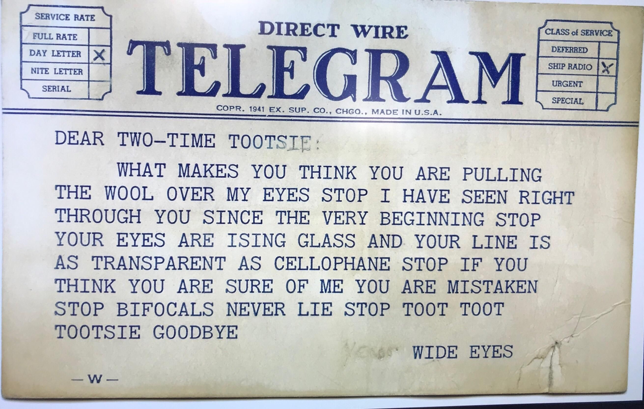 My Wifes Grandmother Broke Up With Her Teenage Boyfriend By Telegram And Kept A Copy All These Years