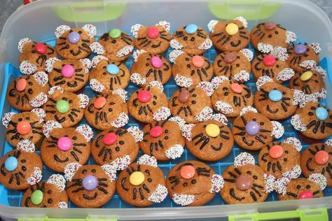 Geburtstag Kinder Mini Muffins Katzen Essen Kinder Muffins