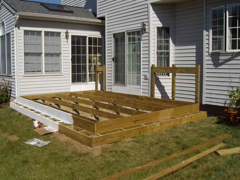 Floating deck plans home planning ideas how to for Building a low profile deck