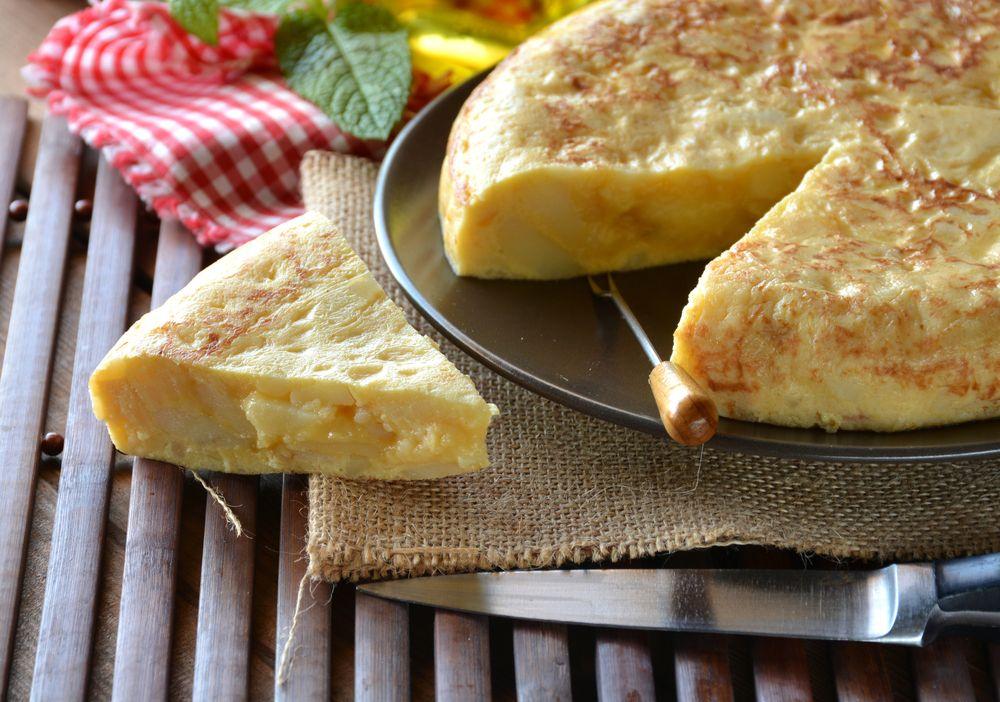 How To Make A Spanish Potato Omelette (Patatas De Tortilla). From RecipeThis.com