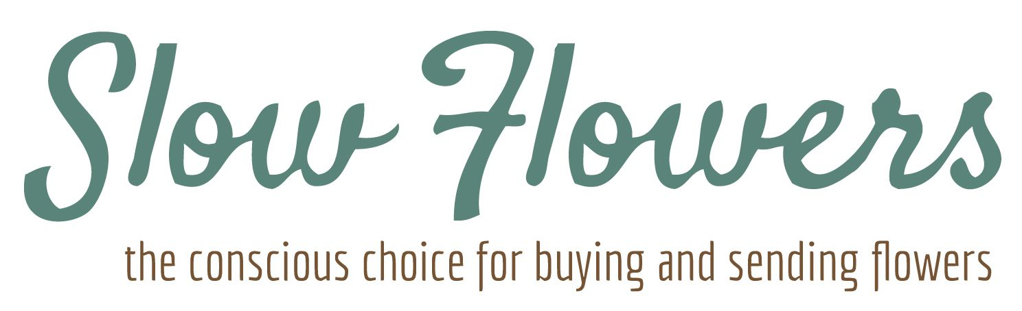 Slow Flowers Logo The Conscious Choice For Buying And Sending Flowers Slow Flower Flower Farmer Flowers
