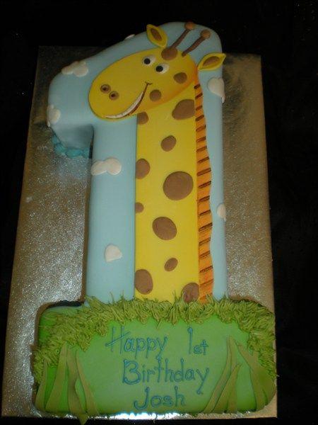 Giraffen Torte In Form Einer 1 Fondant