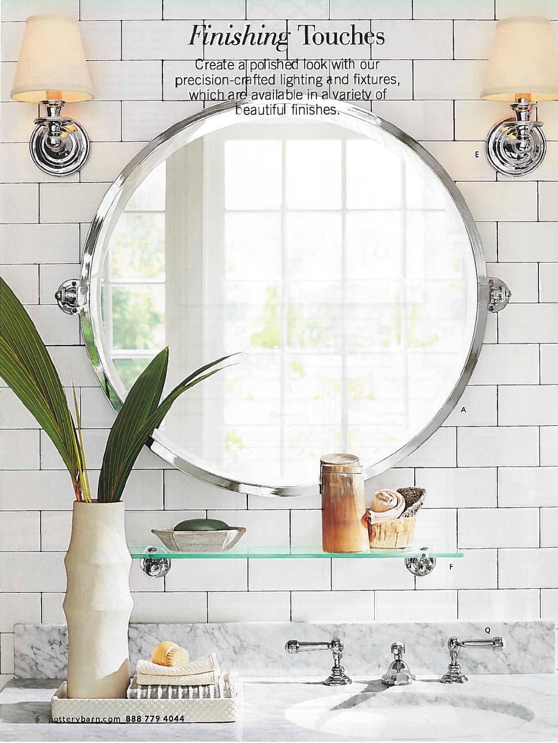 Kensington Round Pivot Mirror Round Mirror Bathroom Pivot