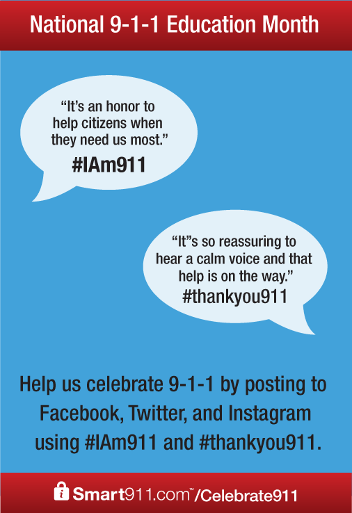 April Is 9 1 Education Month Help Us Celebrate By Using The IAm911 And Thankyou911 Hashtags