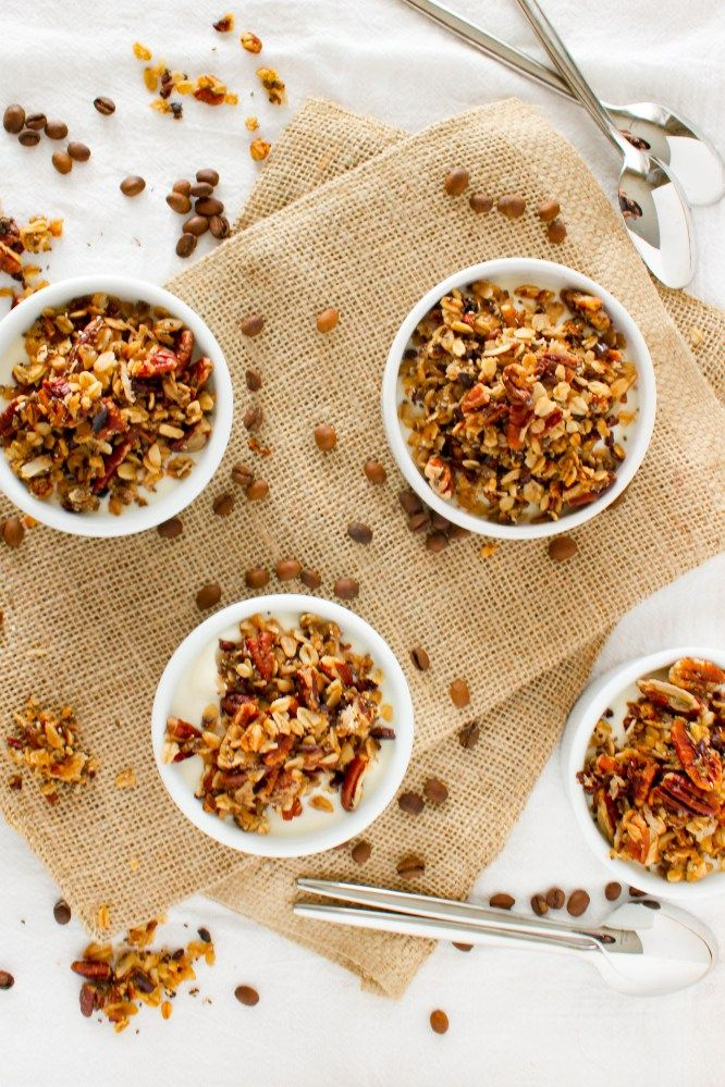 Vanilla Pecan Coffee Granola Recipe Vegan granola