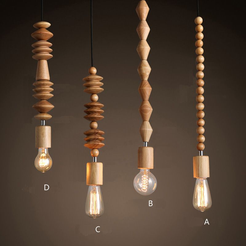 Free Shipping 4 Models Lot Modern Wooden Beads Curtain Pendant