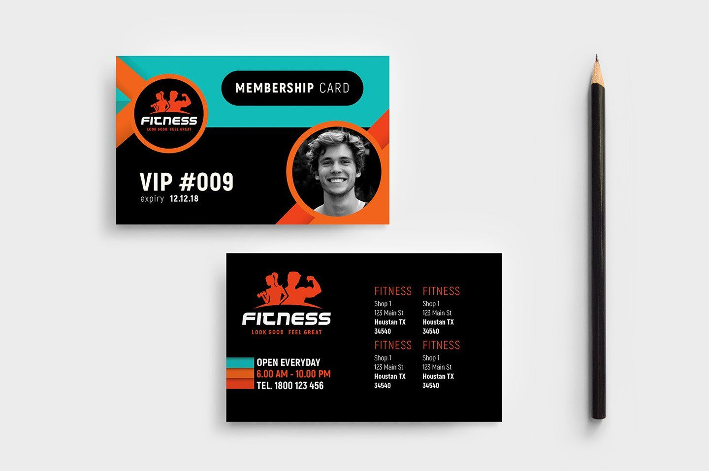 Gym Fitness Membership Card Template Membership Card Gym Membership Card Fitness Membership