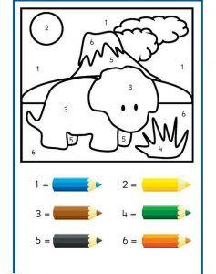 Dinazor Boyama 2 Ww Dinosaurs Preschool Preschool Ve Color By