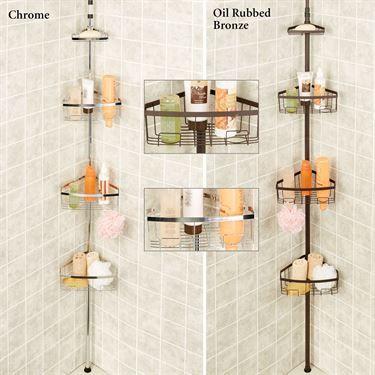 Everlast Tension Pole Corner Shower Caddy | BATHROOMS | Pinterest ...
