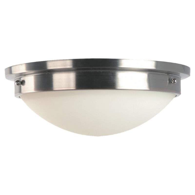 Murray Feiss FM228-LED Gravity 1 Light LED Flush Mount Ceiling Fixture Brushed Steel / Polished Nickel Indoor Lighting Ceiling Fixtures Flush Mount