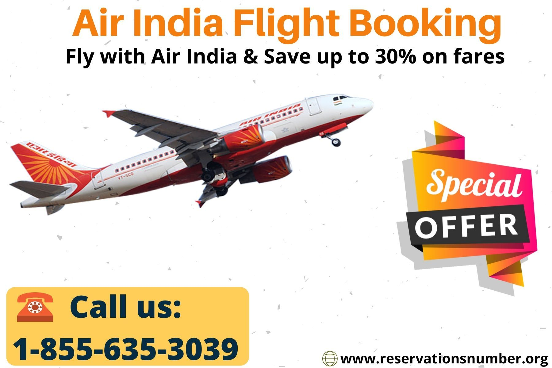 Air India Flights Booking, Online Seat Reservations