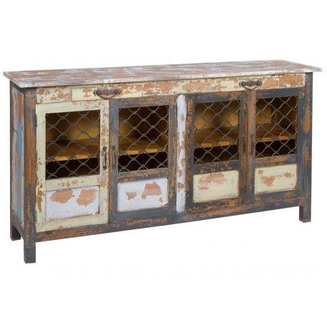 Aparador para comedor estilo vintage. Mueble con 4 puertas y 2 ...