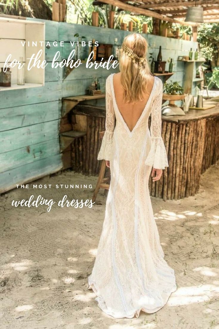 Stunning romantic bohemian wedding dresses you will fall in love