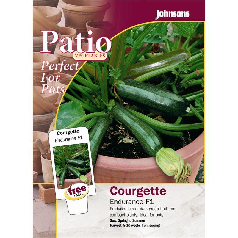 Johnsons Endurance Zucchini Patio Seeds Zucchini, Green