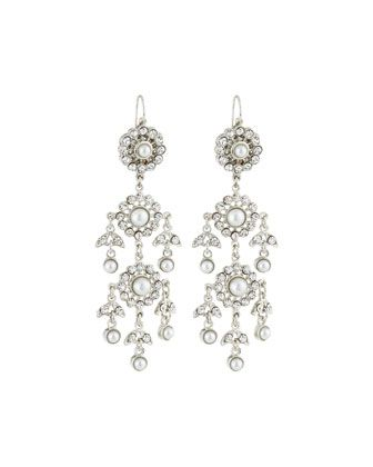 Victorian+Pearl+&+Crystal+Chandelier+Earrings+by+Jose+&+Maria+Barrera+at+Neiman+Marcus+Last+Call.