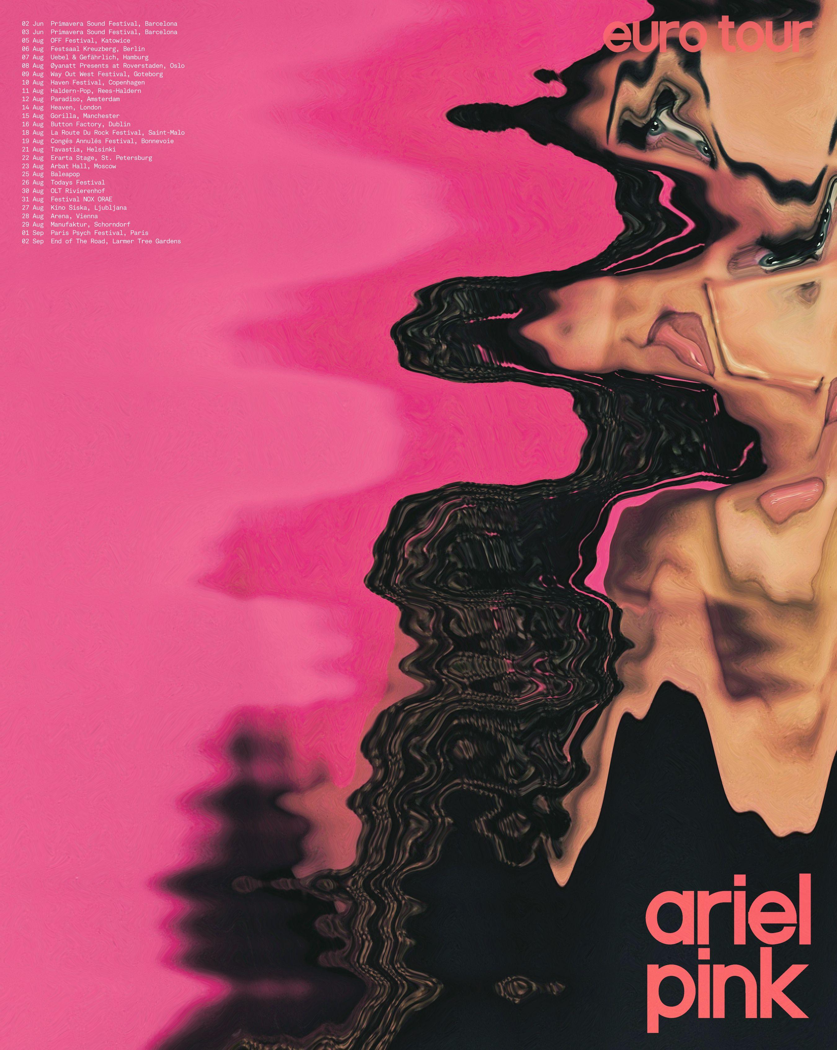 Jen Dodaro Reimagined Tour Posters Ariel Pink Tour Posters Poster Pink Posters
