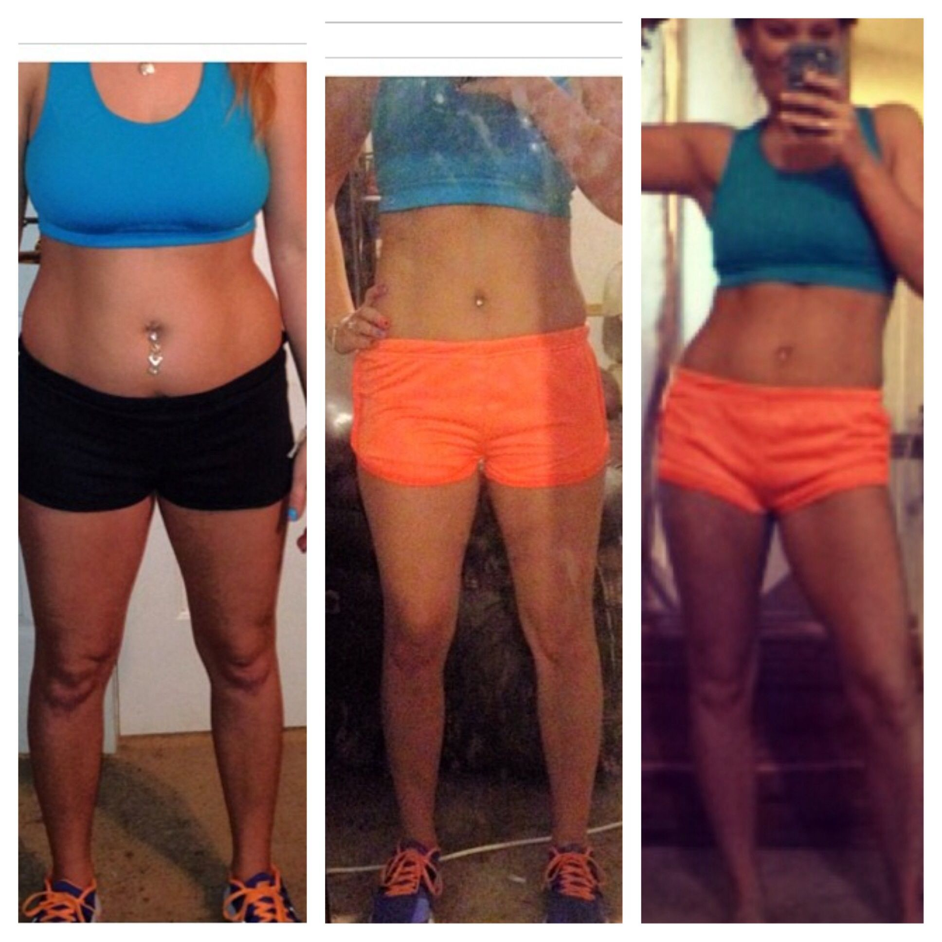 My #t25 results (before, 1week, 5wks) | Stuff I made