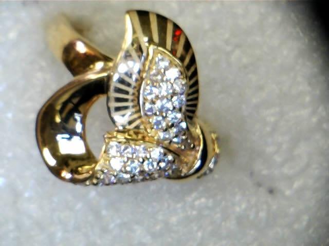 21 karat gold ring with CZ stones New njdiamonds Dearborn MI