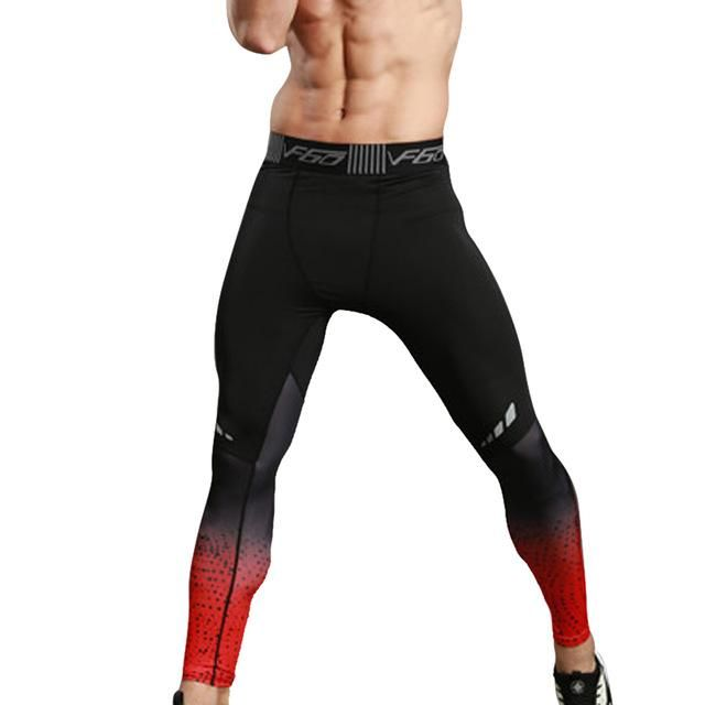 ac2347021a NIBESSER Brand 2017 Men Fitness Leggings Tights Elastic Patchwork Compression  Tights Quick Dry Breathable Bodybuilding Pants New