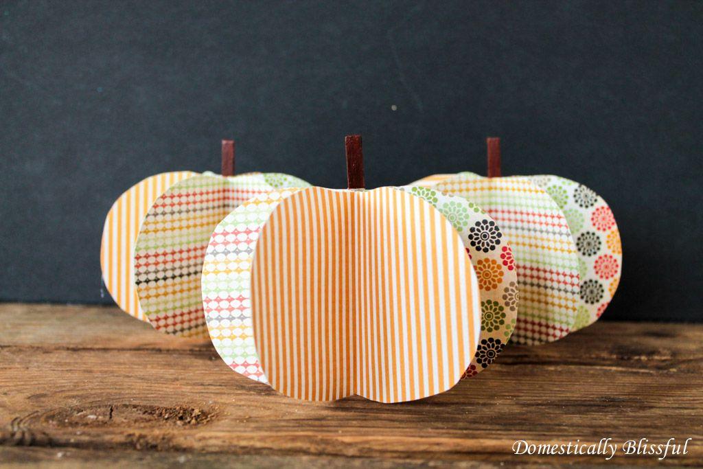 Diy 3d pumpkins k rbis basteln mit papier k rbis for Kindergottesdienst herbst