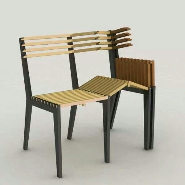 I Love The Idea Of Turning Chairs Into Benches, And Have Done So Once  Before, But It Was Not Nearly As Well Engineered As This  Not To Mention   Collapsible?
