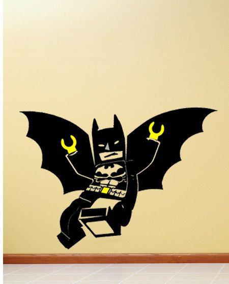 32 inches wide batman lego minifigure vinyl wall decal sticker 24 99 via etsy