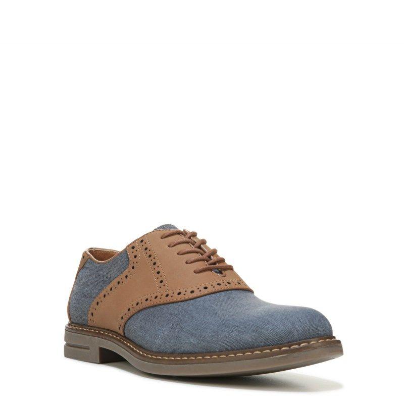 Izod Men's Conaway Saddle Oxford Shoes (Navy/Tan)