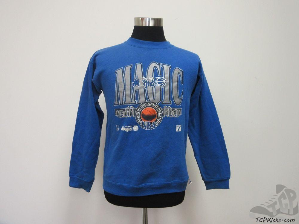 Vtg 90s Logo 7 Orlando Magic Crewneck Sweatshirt sz Youth