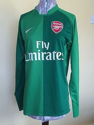 #Arsenal green long sleeved goalie #football #shirt, size l,  View more on the LINK: http://www.zeppy.io/product/gb/2/321939677388/