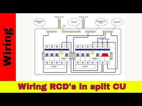 how to wire rcds in split consumer unit  youtube  home