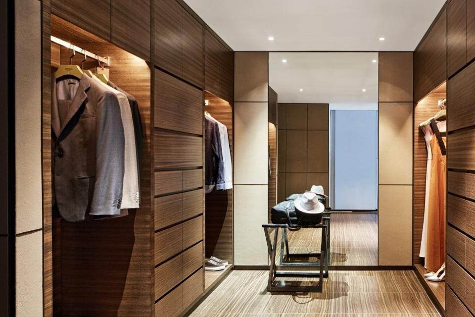 Walk In Closet At The Armani Dubai Suite (Photo Credit: Armani Hotel Dubai)