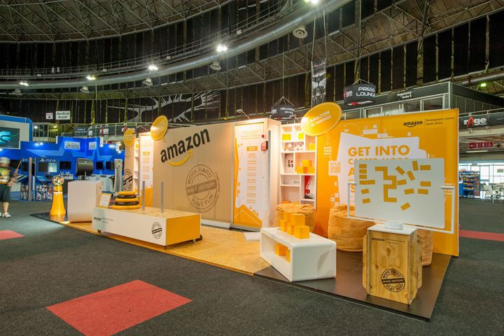 Exhibition Stand Hire Johannesburg : Amazon stand at rage expo by hott d johannesburg